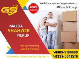 Movers & Packers, House, Office Shifting Mazda, Hino, Shehzore, Suzuki