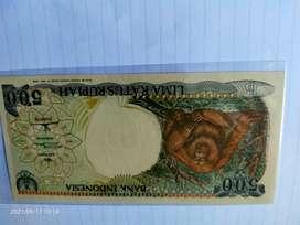Uang Kertas 500 Rupiah Orang Utan