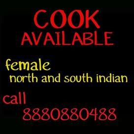 Female Cook available,