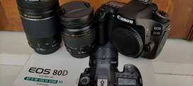 Canon 80D lensa 28-80 USM & 70-300 USM wifi , touch