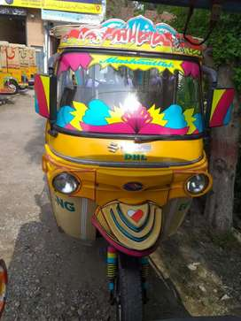 Sixer double head light Rickshaw new condition