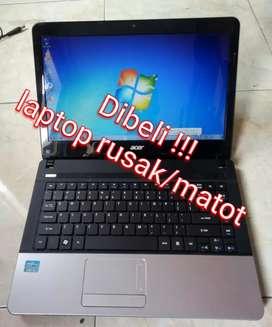 Dibeli laptop netbook rusak matot dll