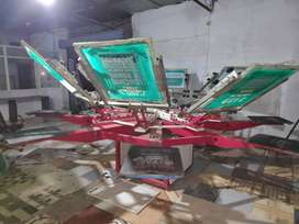 M&M Butterfly Screen Printing Machine With Micro Registration