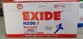 New Exide N 200 for UPS, Inverters and Solar.