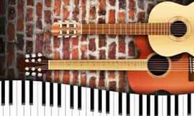 Guitar And Piano Classes home tuitions are also available