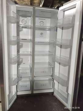 Samsung side by side 550litter new fridge for srll.
