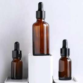 Essential oil & serum glass bottles