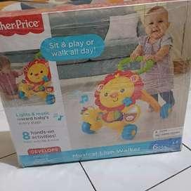Jual fisher price musical lion walker / mainan belajar jalan anak
