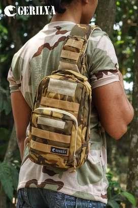 Tas Selempang Pria / Gerilya Combatan Two / Tas Tactical / Tas Premium