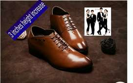 3 inches height shoes for men