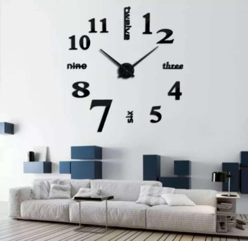 Jam Dinding Besar DIY Raksasa Giant Wall Clock 130 cm Diameter