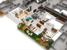 Interior designed with skills in Autocad, 3D software