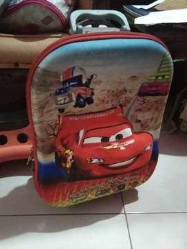 Tas trolly anak / tas sekolah dari batam,dipake sbntr.Beli 350