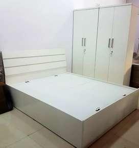 White Wardrobe+Bed