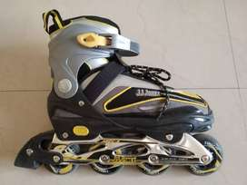 JJ Jonex adjustable In-Line Skates Size 39-42Euro(Gray, Yellow)