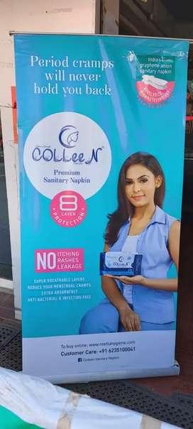 Female brand promoter for hypermarket