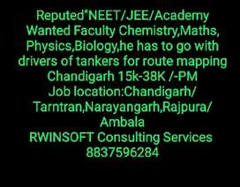 """Reputed""""NEET/JEE/Academy Wanted Faculty Chemistry,Maths, Physics,Bio,"""