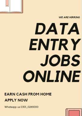 Easy and simple ways to earn money- Data entry jobs are offering