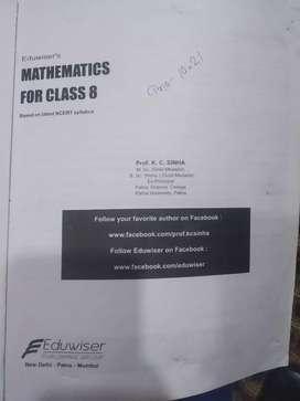 Class 8 math book (dr kc shina)