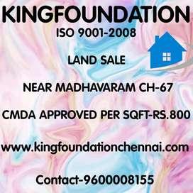 Land sale madhavaram