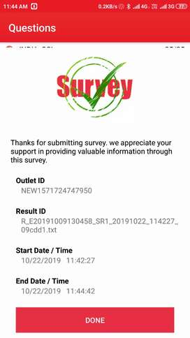 Shop2shop market survey for reputed FMCG cold drinks company
