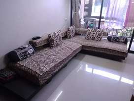 Two Sofas with pillows