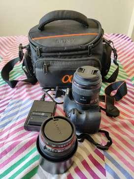 Sony DSLR SLT A58 Camera + Lens for Sale