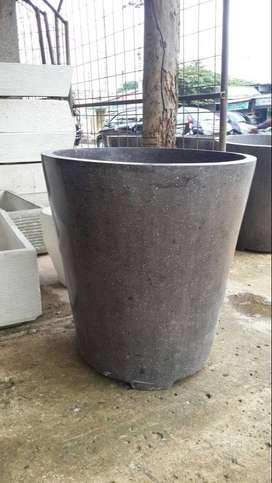pot terrazzo halus glossy 70x70 hitam