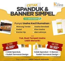 Cetak Spanduk & Banner Murah include Design