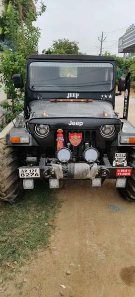 Mahindra modified jeep with Toyota engine and spring coil suspension
