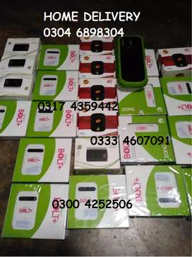 Zong 4G bolt plus jazz 4G ptcl charji BOX PACK DEVICE FREE DELIVERY