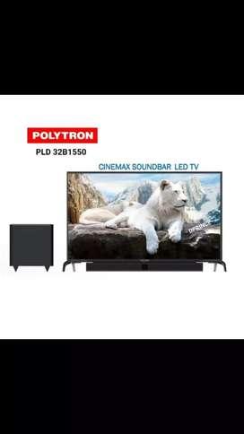 Terbaru harga promo led polytron 32 in cinemax soundbar +subwoofer