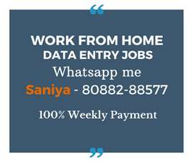 Earn daily Rs.1000/-. Simple typing job. Work from home.