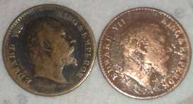 Old British Indian coins