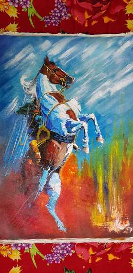 Polo culture Art oil Painting on canvas 2x4 ft