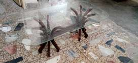 Glass table set is for sale