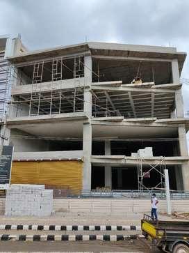 Commercial space for Rent at Mahantesh Nagar, 6000sqft each floor.