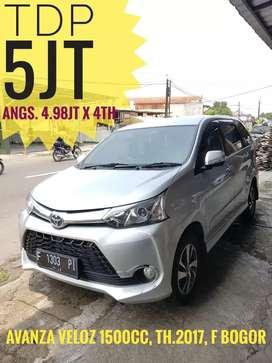 Tdp 5jt, Avanza Veloz 1500cc th.2017 MANUAL, F Bogor, km25ribu