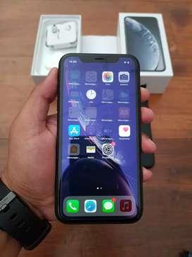 iPhone XR 64GB Black, Dual Sim Nano, Fullset, Mulus dan Normal