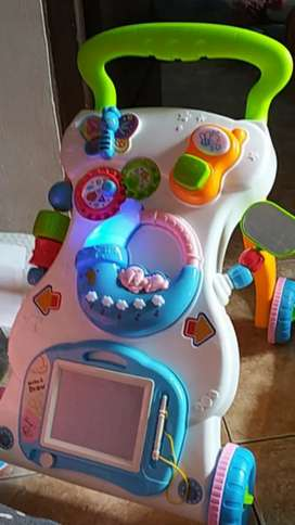 Mainan baby walker interaktif 2-in-1