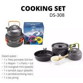 HS Nesting / Cooking set / alat masak camping praktis DS 308 - DS308
