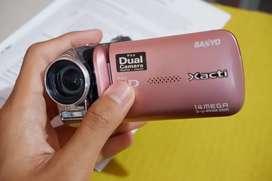 Kamera Sanyo Vpc gh1 pink handycam
