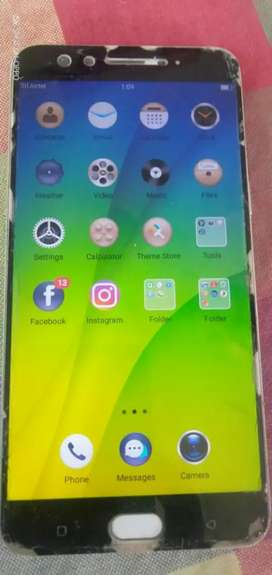 OPPO f3 plus, good condition, tempered glass crashes