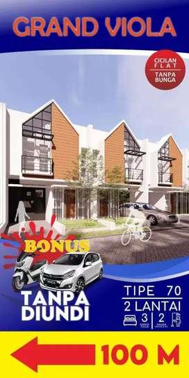 Rumah Villa 2 Lantai Murah Bonus Mobil dekat Kampus Binus Araya Malang