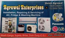 AC fridge washing machine repairing and service Agrawal enterprises