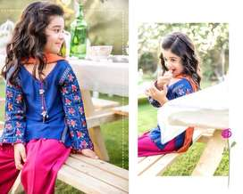 Maria B Master Replica Embroiderer Linen Kid's Suit