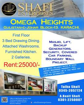 Omega Heights Apartment first floor 3 bed D D