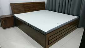 Queen size bed with Storage with Side Table
