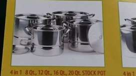 Stockpot 4 in 1 Stainlesstil tebal + steamer