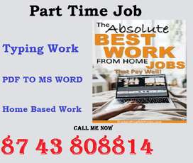 In online process get offline data entry work. Just Type PDF TO MS WOR
